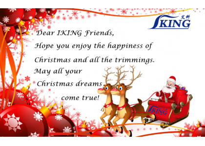 Sincere Christmas wishes from China IKING Industrial Co., Ltd.