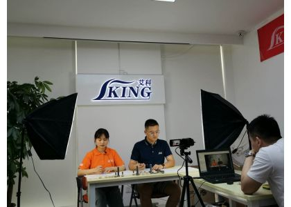 China IKING---facebook shear studs, welding studs live broadcast debut